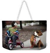 A Boy And His Bulldog Weekender Tote Bag