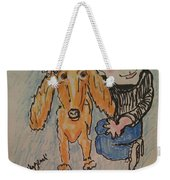 A Boy And His Dog Weekender Tote Bag