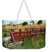 A Bridge And A Yacht Harbor Weekender Tote Bag
