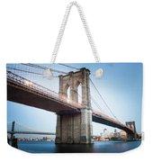 New York Bridge Weekender Tote Bag