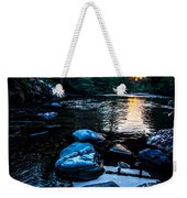 A Browns River Sunset Weekender Tote Bag