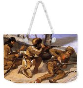 A Brush With The Redskins 1891 Weekender Tote Bag