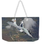 A Bulgarian Air Force Mig-29 In Flight Weekender Tote Bag