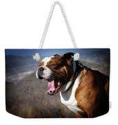 A Bulldog's Mighty Yawn Weekender Tote Bag