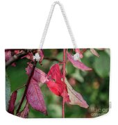 A Bunch Of Red Leaves Weekender Tote Bag