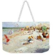 A Busy Beach In Summer Weekender Tote Bag