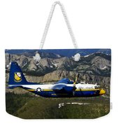 A C-130 Hercules Fat Albert Plane Flies Weekender Tote Bag