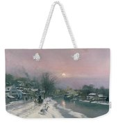 A Canal Scene In Winter  Weekender Tote Bag by Anders Anderson Lundby