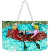 A Canoe Ride Weekender Tote Bag