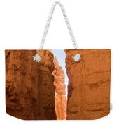 A Canyon Reflects Red Light Bouncing Weekender Tote Bag