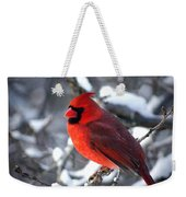 A Cardinal Day... Weekender Tote Bag