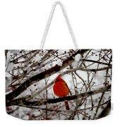 A Cardinal In Winter Weekender Tote Bag