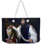 A Cat For Rembrandt_ Aristotle Caresses Calliope Weekender Tote Bag