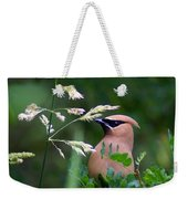 A Cedar Waxwing Facing Left Weekender Tote Bag