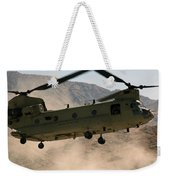 A Ch-47 Chinook Helicopter Kicks Weekender Tote Bag