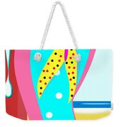 A Chancla On The Beach Weekender Tote Bag