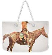 A Cheyenne Brave Weekender Tote Bag by Frederic Remington