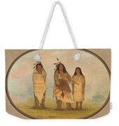 A Cheyenne Chief His Wife And A Medicine Man Weekender Tote Bag