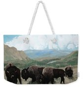 A Child Leads The Herd Weekender Tote Bag