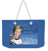 A Child's Smile Weekender Tote Bag