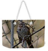 A Chipping Sparrow Weekender Tote Bag