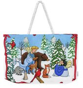 A Christmas Scene 2 Weekender Tote Bag by Sarah Batalka