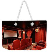 A Classy Home Theater Set Up Weekender Tote Bag