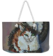 A Clockwork Cat Weekender Tote Bag