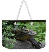 A Close Up Look At A Komodo Dragon Lizard Weekender Tote Bag