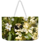 A Close View Of A Bumblebee Pollinating Weekender Tote Bag