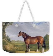 A Clydesdale Stallion Weekender Tote Bag by John Frederick Herring Snr