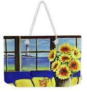A Coastal Window Lighthouse View Weekender Tote Bag