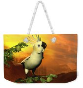 A Cockatoo In A Tree  Weekender Tote Bag