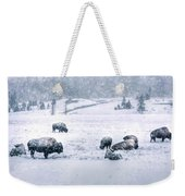A Cold Winter's Day Weekender Tote Bag