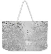 A Colonial White Winter Weekender Tote Bag
