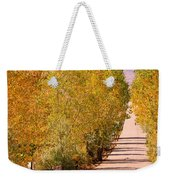 A Colorful Country Road Rocky Mountain Autumn View  Weekender Tote Bag