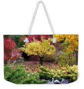 A Colorful Fall Corner Weekender Tote Bag
