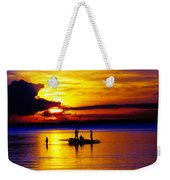 A Colorful Golden Fishermen Sunset Vertical Print Weekender Tote Bag