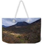 A Colorful Scene Of Burned And Lush Interspersed Foliage In The Southwest Foothills Of The Sierra Ne Weekender Tote Bag