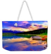 A  Colourful Evening At Lake Patricia Weekender Tote Bag
