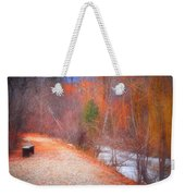 A Colourful Winter Weekender Tote Bag