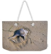 A Conch Shell Lies In The Sand Weekender Tote Bag