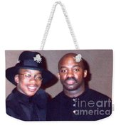 A Cool Dude And His Dad Weekender Tote Bag