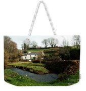 A Cornish Cottage By The Stream Weekender Tote Bag
