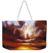 A Cosmic Storm - Genesis V Weekender Tote Bag by James Christopher Hill