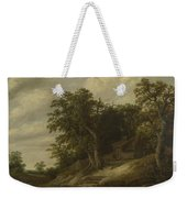 A Cottage Among Trees On The Bank Of A Stream Weekender Tote Bag