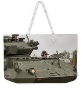 A Cougar With A 76 Mm Bite - Cougar Avgp Weekender Tote Bag