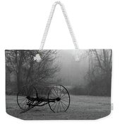 A Country Scene In Black And White Weekender Tote Bag