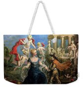 A Courtly Couple Courting Weekender Tote Bag