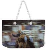 A Cowboy Rides A Bucking Bronco Weekender Tote Bag